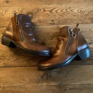 Fly London Meli Brown Leather/Suede Ankle Boot